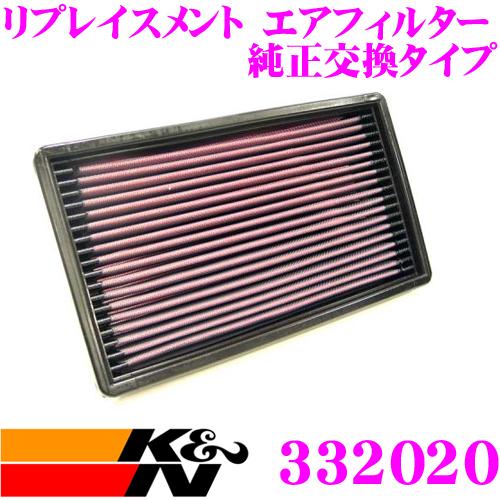 K&N 純正交換フィルター 33-2020サーブ CB20 / CB234 9000用リプレイスメント ビルトインエアフィルター純正品番9381971対応
