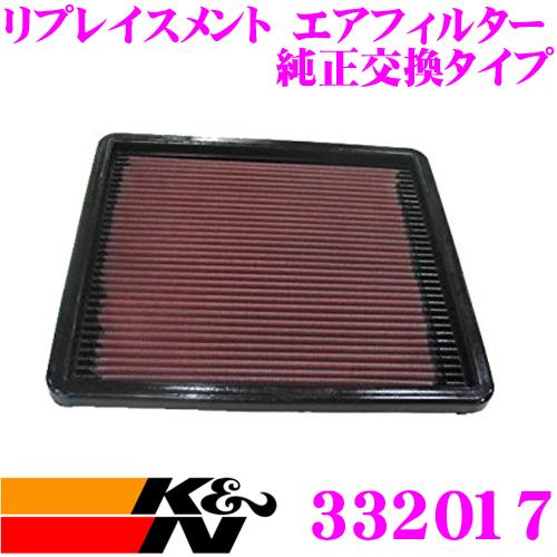 K&N 純正交換フィルター 33-2017 マツダ FC3S / FD3S RX-7用などリプレイスメント ビルトインエアフィルター 純正品番JF01-13-Z40対応