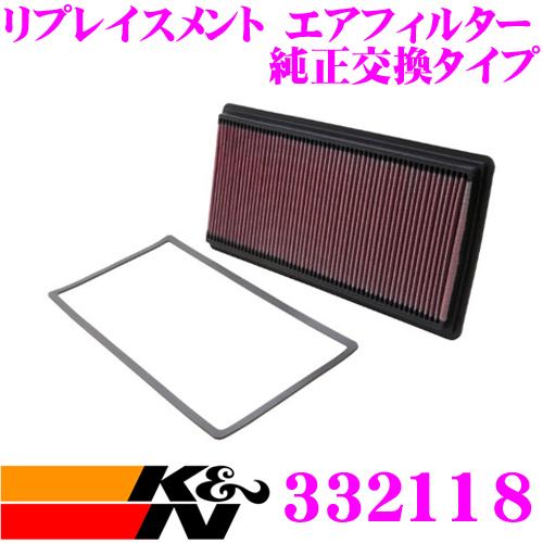 K&N 純正交換フィルター 33-2118 シボレー カマロ など 用リプレイスメント ビルトインエアフィルター 純正品番:25042562対応