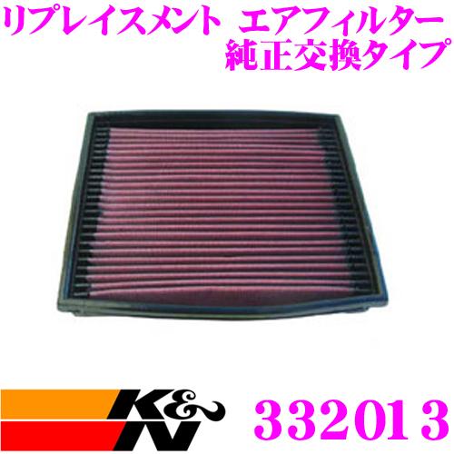K&N 純正交換フィルター 33-2013 オペル XB240 / XB260 / XB300/301 オメガ用リプレイスメント ビルトインエアフィルター