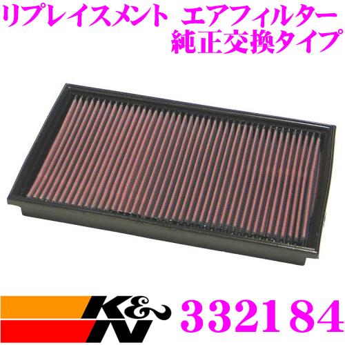 K&N 純正交換フィルター 33-2184メルセデス・ベンツ E-CLASS 210 用リプレイスメント ビルトインエアフィルター純正品番:1120940104/1120940204対応