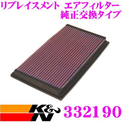 K&N 純正交換フィルター 33-2190ジャガー XK-TYPE 用リプレイスメント ビルトインエアフィルター純正品番:NJA3558AA対応