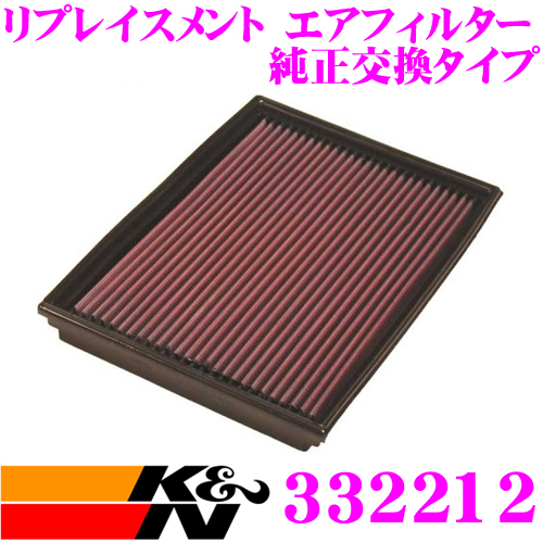 K&N 純正交換フィルター 33-2212オペル メリーバ 用リプレイスメント ビルトインエアフィルター純正品番:835626対応
