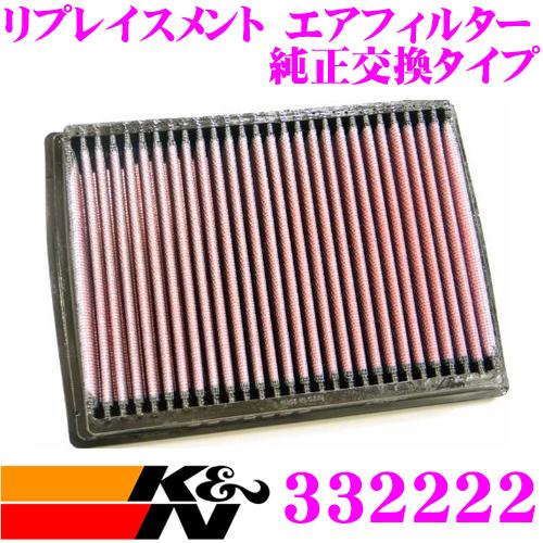 K&N 純正交換フィルター 33-2222マツダ デミオ/フェスティバ/フェスティバミニワゴン 用リプレイスメント ビルトインエアフィルター 純正品番:B595-13-Z40/16546-KA164対応