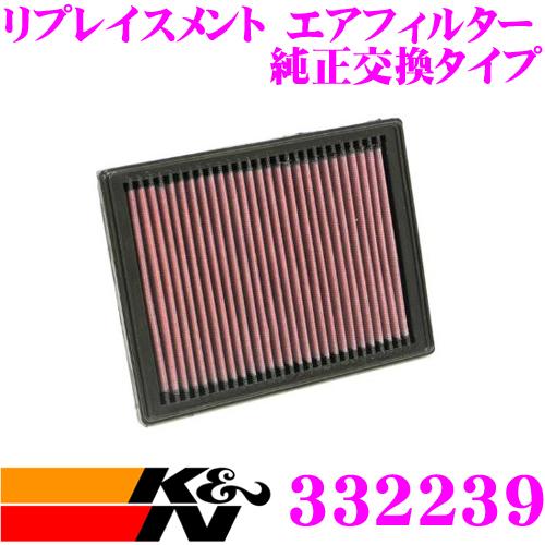 K&N 純正交換フィルター 33-2239ミニ R50/R52/R53 用リプレイスメント ビルトインエアフィルター 純正品番:13721477840対応