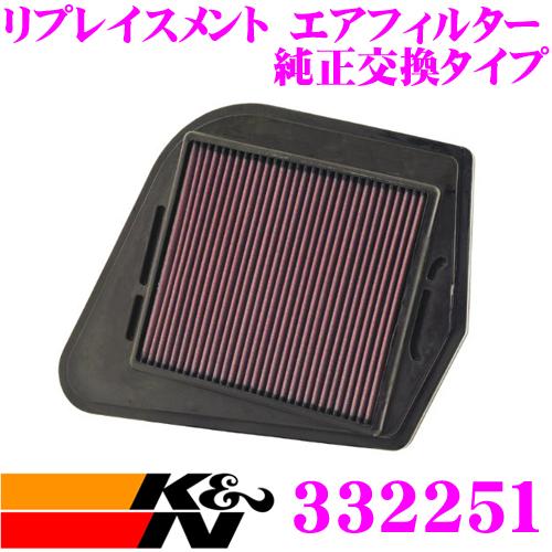 K&N 純正交換フィルター 33-2251キャデラック CTS 用リプレイスメント ビルトインエアフィルター純正品番:25728874対応