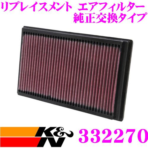 K&N 純正交換フィルター 33-2270ミニ R50/R52/R53 用リプレイスメント ビルトインエアフィルター 純正品番:13721491749対応