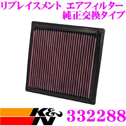 K&N 純正交換フィルター 33-2288ダッジ デュランゴ 用リプレイスメント ビルトインエアフィルター純正品番:53032527対応