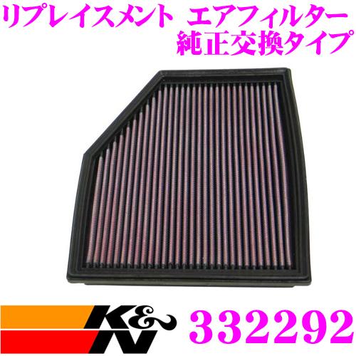 K&N 純正交換フィルター 33-2292BMW 5シリーズ E60/E61 など 用リプレイスメント ビルトインエアフィルター 純正品番:13717521033対応