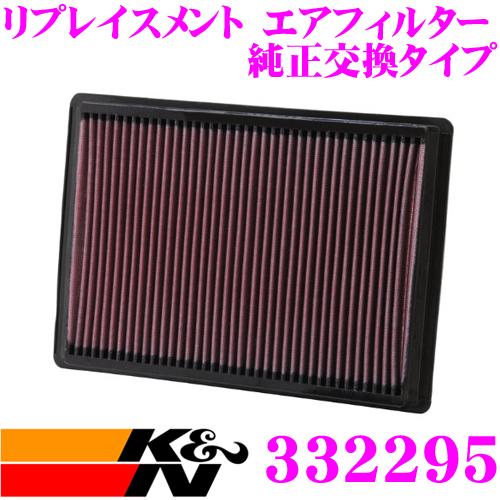 K&N 純正交換フィルター 33-2295クライスラー 300C/300Cツーリング 用リプレイスメント ビルトインエアフィルター