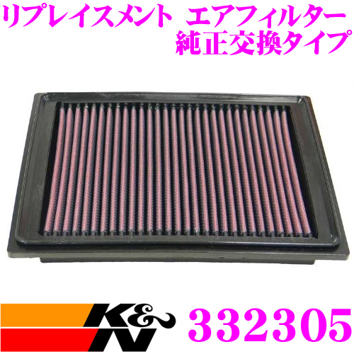 K&N 純正交換フィルター 33-2305シボレー コルベットC5 用リプレイスメント ビルトインエアフィルター純正品番:10342024/25099149対応