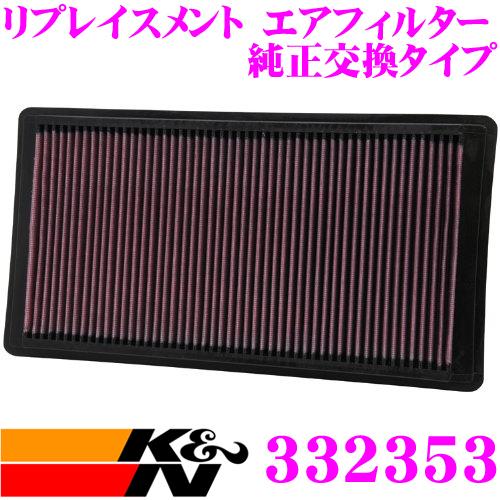 K&N 純正交換フィルター 33-2353フォード エクスプローラー 用リプレイスメント ビルトインエアフィルター純正品番:6L2Z9601AA対応