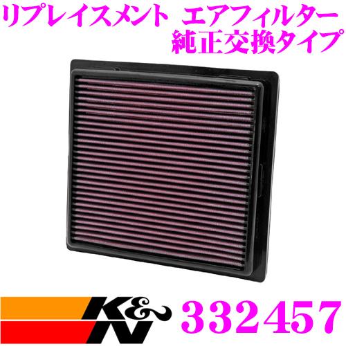 K&N 純正交換フィルター 33-2457ジープ グランドチェロキー 用リプレイスメント ビルトインエアフィルター純正品番:4861756対応