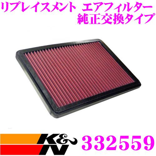 K&N 純正交換フィルター 33-2559BMW 5シリーズ E28/6シリーズ E24 用リプレイスメント ビルトインエアフィルター純正品番:13721307259対応