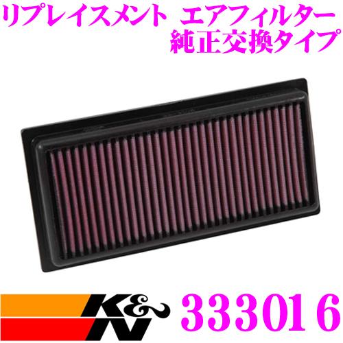 K&N 純正交換フィルター 33-3016ミツビシZ25A / Z26A コルト用などリプレイスメント ビルトインエアフィルター純正品番MR993226対応