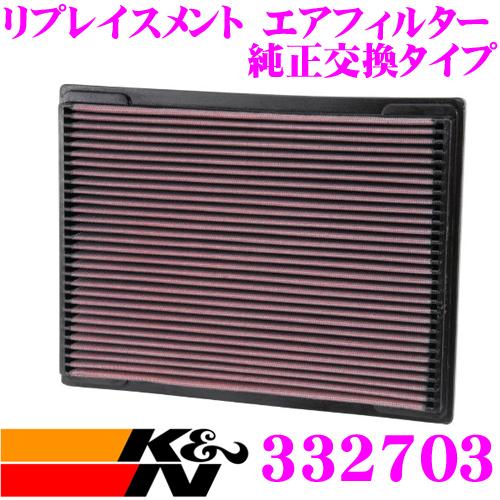 K&N 純正交換フィルター 33-2703メルセデス・ベンツ C-CLASS 202 など 用リプレイスメント ビルトインエアフィルター純正品番:6040940004/6040941304対応