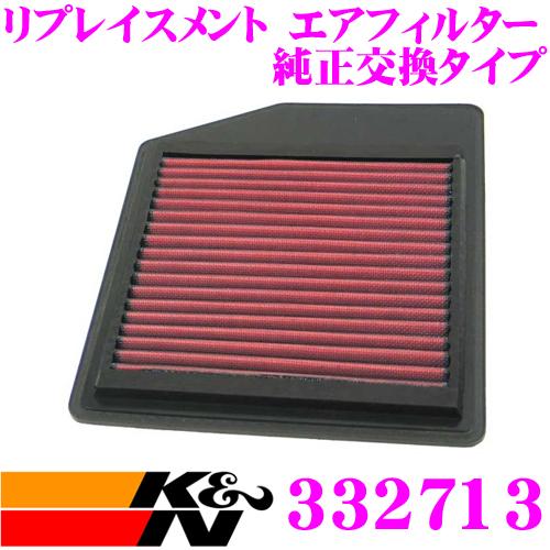 K&N 純正交換フィルター 33-2713ホンダ NSX 用リプレイスメント ビルトインエアフィルター純正品番:17220-PR7-A00対応