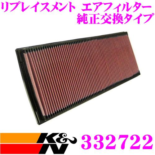 K&N 純正交換フィルター 33-2722ポルシェ 968 968用リプレイスメント ビルトインエアフィルター純正品番:94411016610対応