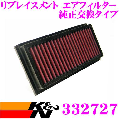 K&N 純正交換フィルター 33-2727フィアット ティーポ 用リプレイスメント ビルトインエアフィルター純正品番:7712505対応