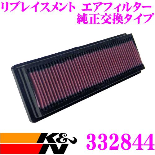 K&N 純正交換フィルター 33-2844プジョー A8KFV / A8NFU 1007用などリプレイスメント ビルトインエアフィルター純正品番1444CZ / 1444X0対応