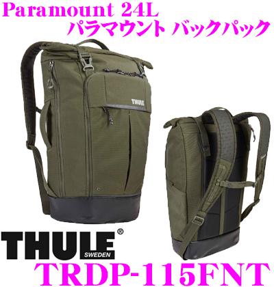 THULE スーリー TRDP-115FNT Paramount 24L パラマウント バックパック カーキ 【15インチMacBookPro/ノートPC保護スペース付大容量リュック バッグ】