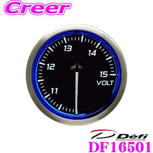 Defi デフィ 日本精機 DF16501 Racer Gauge N2(レーサーゲージ N2) レーサーゲージ 電圧計 【サイズ:φ52/照明カラー:ホワイト】