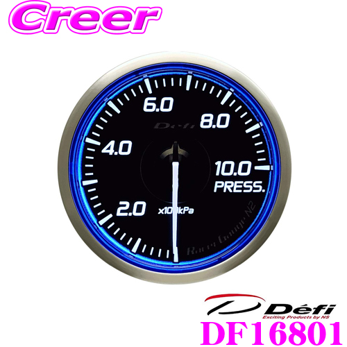 Defi デフィ 日本精機 DF16801 Racer Gauge N2(レーサーゲージ N2) レーサーゲージ 圧力計 【サイズ:φ60/照明カラー:ホワイト】