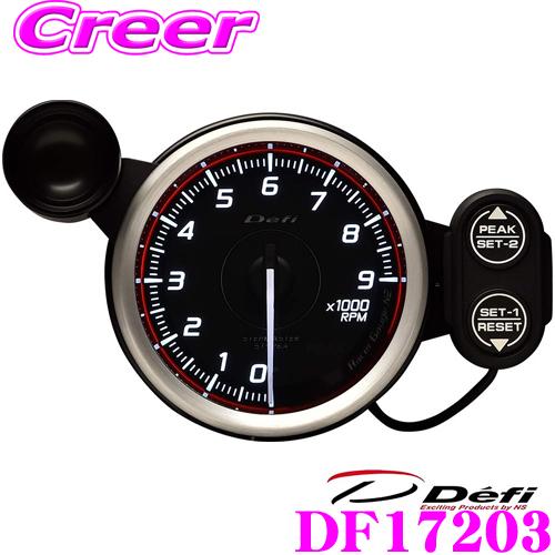 Defi デフィ 日本精機 DF17203Racer Gauge N2(レーサーゲージN2)レーサーゲージ レッドモデル タコメーター【サイズ:φ80/照明カラー:ホワイト/表示範囲:9000RPMまで】