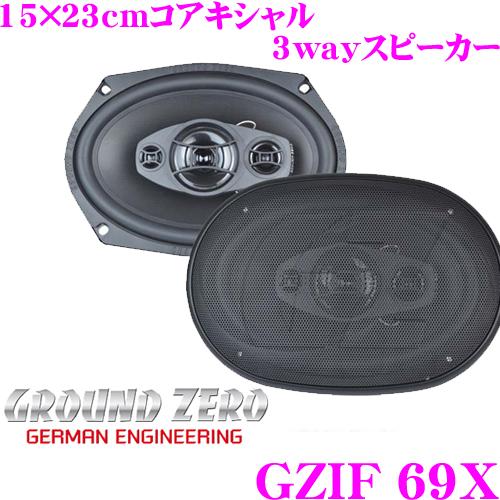 GROUND ZERO グラウンドゼロ GZIF 69X15x23cmコアキシャル3wayスピーカー最大入力:180W/定格入力:120W