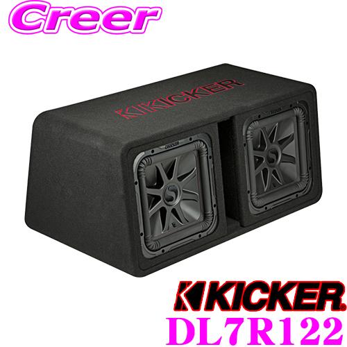 KICKER キッカー DL7R12212インチ デュアル 2Ω ウーファーBOX付き L7R12