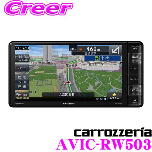 カロッツェリア 楽ナビ AVIC-RW503 7V型 VGAモニター 200mmワイド メインユニットタイプ ワンセグTV/DVD-V/CD/Bluetooth/SD/チューナー・DSP AV一体型メモリーカーナビゲーション 【AVIC-RW502 後継品】