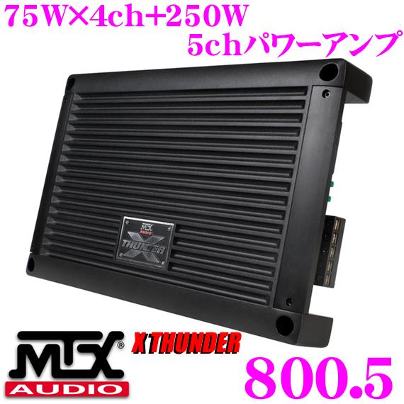 MTX Audio XTHUNDER 800.5 75W×4ch + 250W×1ch 파워 앰프
