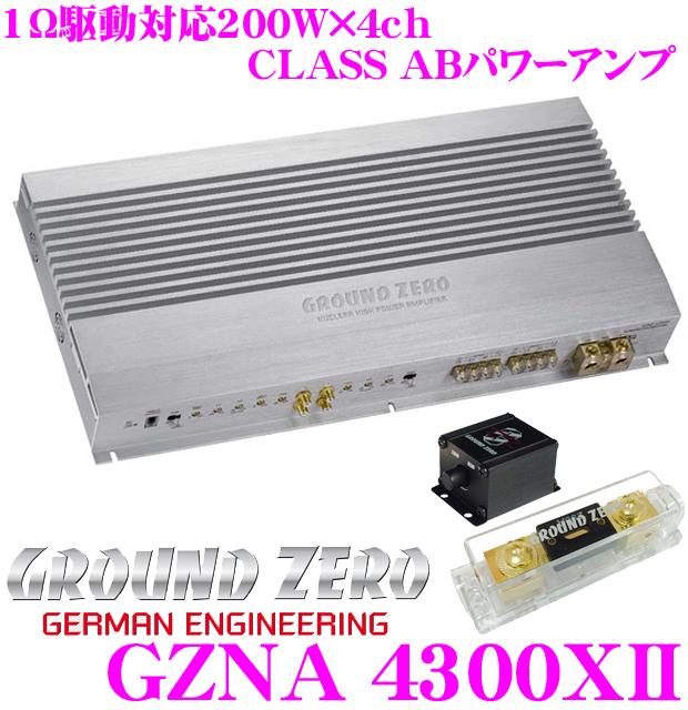 GROUND ZERO グラウンドゼロ GZNA 4300XII200W×4chパワーアンプ
