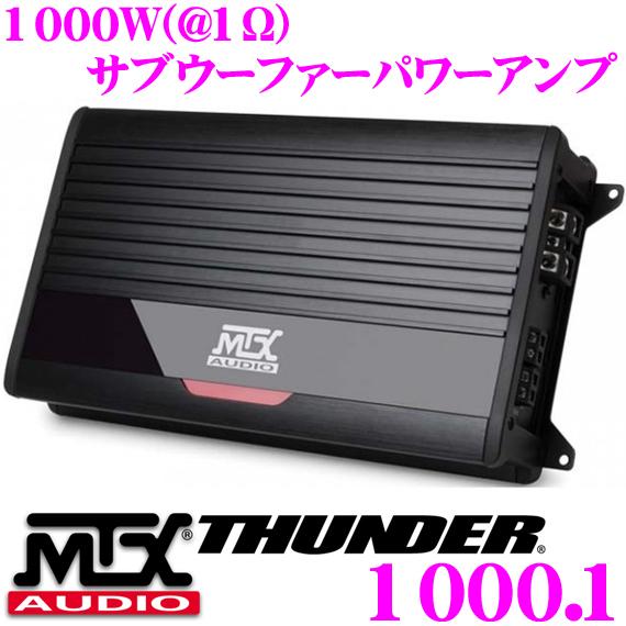 MTX Audio THUNDER1000.1350W(@4Ω) 600W(@2Ω) 1000W(@1Ω)モノラルサブウーファーパワーアンプ