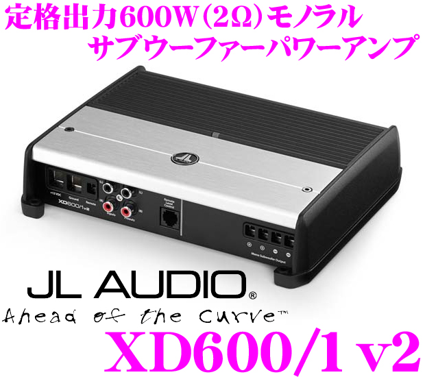 JL AUDIO J L音频XD600/1v2 NexD Ultra-High Speed Class D 600W(@2Ω)副低音扬声器功率放大器