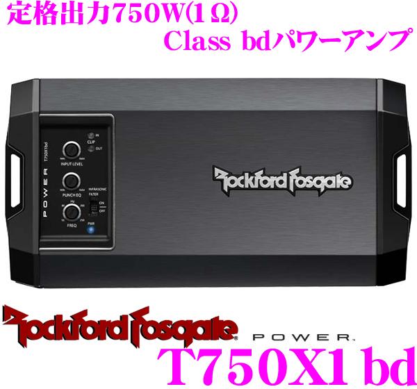 RockfordFosgate ロックフォード POWER T750X1BD定格出力750W(1Ω)モノラルサブウーファーパワーアンプ