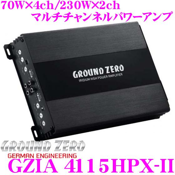 【日本正規品!!送料無料!!カードOK!!】 GROUND ZERO グラウンドゼロ GZIA 4115HPX-II 70W×4chパワーアンプ