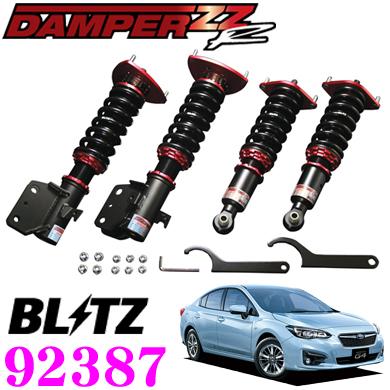BLITZ ブリッツ DAMPER ZZ-R No:92387スバル GK2/GK3/GK6/GK7 インプレッサ G4等用車高調整式サスペンションキット