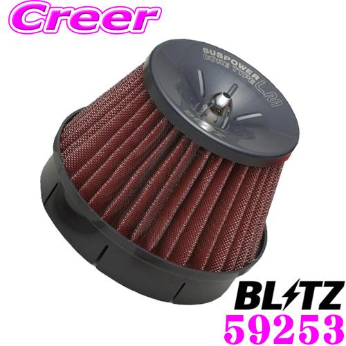 BLITZ ブリッツ No.59253三菱 GK1W エクリプスクロス用サスパワー コアタイプLM エアクリーナーSUS POWER CORE TYPE LM-RED
