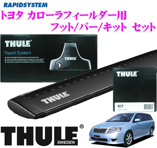 供THULE suritoyotakarorafiruda使用的屋顶履历装设3分安排(黑色)