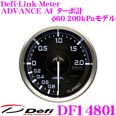 Defi デフィ 日本精機 DF14801 Defi-Link Meter (デフィリンクメーター) アドバンス A1 ターボ計 200kPaモデル 【サイズ:φ60/文字板:黒】