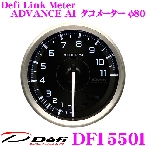 Defi デフィ 日本精機 DF15501 Defi-Link Meter (デフィリンクメーター) アドバンス A1 タコメーター 【サイズ:φ80/文字板:黒】