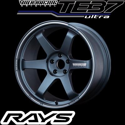 RAYS レイズ VOLK RACING TE37 ULTRA ボルクレーシング TE37 ウルトラ 19インチ 8.5J PCD:114.3 穴数:5 インセット:35 カラー:マットブルーガンメタ