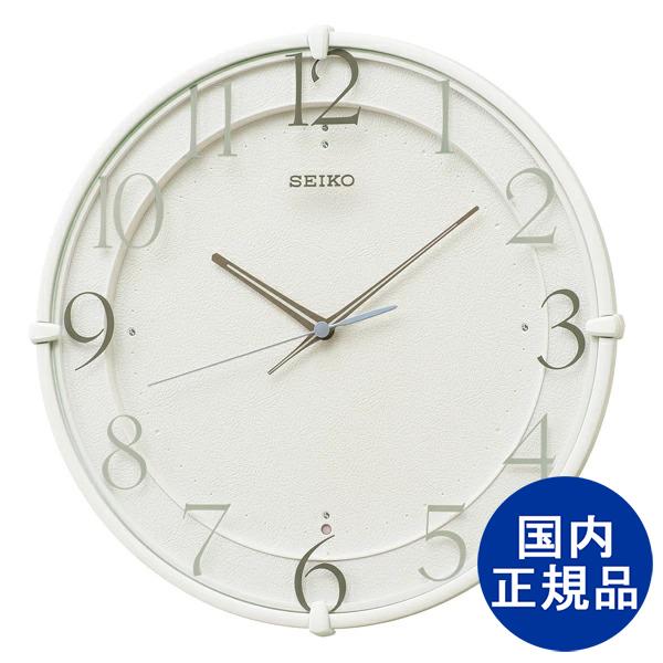 1年保証 日本限定 送料無料 SEIKO セイコークロック 掛け時計 返品交換不可 KX215W 白 アナログ 電波