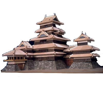 【日本製】建築1/150 松本城【名城シリーズ】【ウッディジョーの木製模型】WoodyJOE【代引不可】