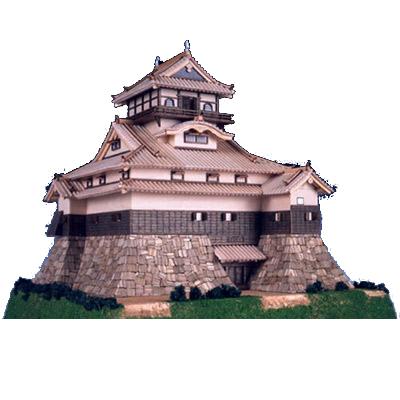 【日本製】建築1/150 犬山城【名城シリーズ】【ウッディジョーの木製模型】WoodyJOE【代引不可】
