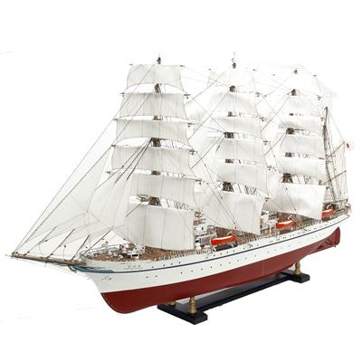 【日本製】1/80 日本丸【大型帆船シリーズ】【ウッディジョーの木製模型】WoodyJOE【代引不可】