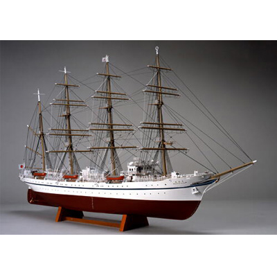 【日本製】1/160 日本丸(帆なし)【大型帆船シリーズ】【ウッディジョーの木製模型】WoodyJOE【代引不可】