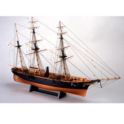 【日本製】1/75 咸臨丸(帆なし) 【大型帆船シリーズ】【ウッディジョーの木製模型】WoodyJOE【代引不可】