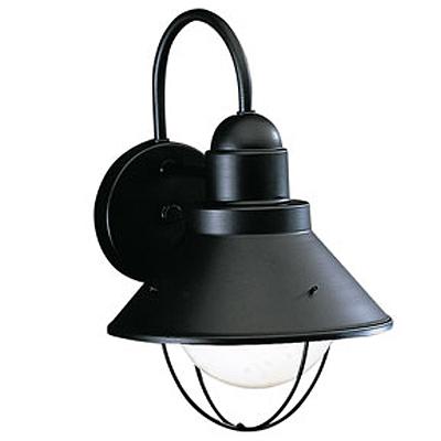 KICHLER(キチラー)Seasideコレクション1灯式の防雨形ブラケットライトKIC-9022BK【代引不可】